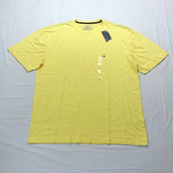 6cd8c197 Tommy Hilfiger Shirts | Yellow Plain Tshirt Xl M816 | Poshmark